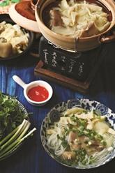 Soupe aux vermicelles et pousses de bambou