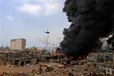 Énorme incendie au port de Beyrouth quelques semaines après l'explosion