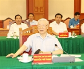 Réunion de la sous-commission du Parti chargée des documents du XIIIe Congrès du Parti