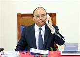 Conversation téléphonique entre Nguyên Xuân Phuc et Angela Merkel