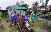 La tempête Noul provoque de lourds dégâts dans des provinces du Centre