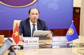 De hauts responsables de l'ASEAN discutent des relations extérieures du bloc