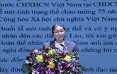 Le Laos tient un meeting solennel célébrant la 75e Fête nationale du Vietnam