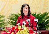 Bac Ninh : Dào Hông Lan élue secrétaire du Comité provincial du Parti pour 2020-2025