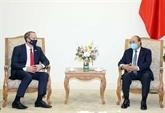 Le Premier ministre vietnamienreçoit le ministre britannique des Affaires étrangères