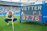 L'Allemand Johannes Vetter tout proche du record du monde du javelot