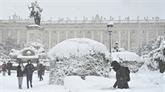 Après la tempête de neige, l'Espagne attend une vague de froid inédite
