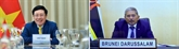Le vice-PM et ministre des AE Pham Binh Minh s'entretient en ligne avec le ministre des AE du Brunei