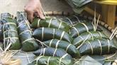 Le bánh chưng đen, une spécialité des Tày pour le Têt