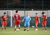 Mondial 2022 : l'équipe vietnamienne se prépare pour son match contre Oman