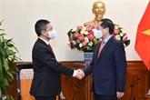 Le ministre des Affaires étrangères reçoit l'ambassadeur d'Indonésie