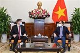 Le ministre des Affaires étrangères reçoit l'ambassadeur de Pologne
