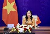 La vice-présidente Vo Thi Anh Xuân assiste au 3e Forum des femmes eurasiennes
