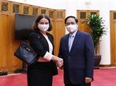 Le Premier ministre vietnamien reçoit l'ambassadrice australienne
