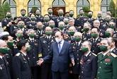 Le président Nguyên Xuân Phuc rencontre des anciens combattants de la piste maritime Hô Chi Minh