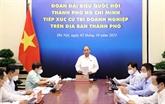 Le président Nguyên Xuân Phuc à l'écoute des hommes d'affaires de HCM-Ville