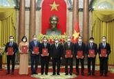 Le président assigne des tâches à huit nouveaux ambassadeurs