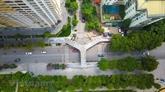Un viaduc piéton au design unique à Hanoï