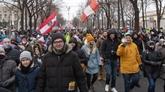 10.000 participants à une manifestation contre le port du masque