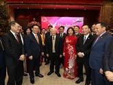 Le dirigeant Nguyên Phu Trong adresse ses vœux du Têt à Hanoï