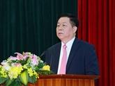 Le nouveau président de la Commission centrale de la sensibilisation et de l'éducation du Parti