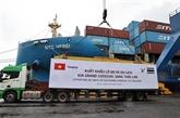 THACO exporte le plus grand lot de voitures et de pièces détachées