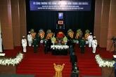 Les cérémonies commémoratives et d'enterrement de Truong Vinh Trong
