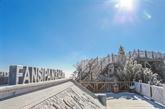 Chutes de neige dans le mont Fansipan