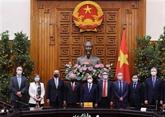 Le PM reçoit les représentants en chef d'agences des Nations unies au Vietnam