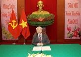 Conversation téléphonique entre Nguyên Phu Trong et Dmitri Medvedev