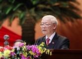 Félicitations au secrétaire général du Parti et président vietnamien Nguyên Phu Trong