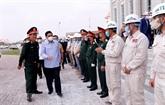 Le leader laotien satisfait de la qualité de la construction de la Maison de l'AN