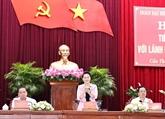 La présidente de l'AN travaille avec les dirigeants de Cân Tho