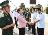 La présidente de l'AN travaille avec le Comité de pilotage des élections de Kiên Giang