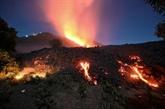 Coulées de lave sur les flancs du volcan Pacaya