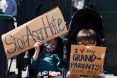 New York : manifestation contre la violence et le racisme visant la communauté asiatique