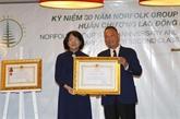 Un groupe immobilier australien honoré pour ses contributions importantes au Vietnam