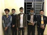 Cinq étrangers capturés pour être entrés illégalement au Vietnam