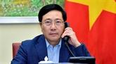 Conversation téléphonique entre les chefs de la diplomatie