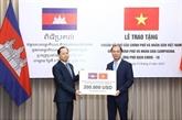 COVID-19 : assistance vietnamienne de 200.000 USD au Cambodge