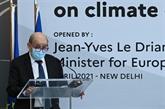 La France veut accentuer sa coopération avec l'Inde pour lutter contre le changement climatique