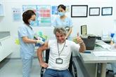 Vaccination anti-COVID pour le personnel médical de l'hôpital FV