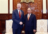 Le président Nguyên Xuân Phuc reçoit l'ambassadeur américain Daniel Kritenbrink