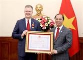 L'ambassadeur des États-Unis au Vietnam à l'honneur