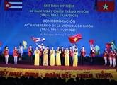 Meeting en l'honneur de la victoire de Giron de Cuba à Hanoï