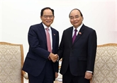Le PM reçoit des représentants de sociétés sud-coréennes