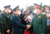 Copieux menu pour le 6e échange d'amitié de la défense frontalière