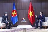Le PM Pham Minh Chinh reçoit le secrétaire général de l'ASEAN