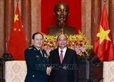 Le président Nguyên Xuân Phuc reçoit le ministre chinois de la Défense