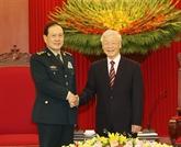 Nguyên Phu Trong reçoit le ministre chinois de la Défense